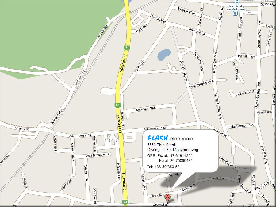 tiszafüred térkép Kapcsolat   Flash Electronic   Hang , fény , színpad és  tiszafüred térkép